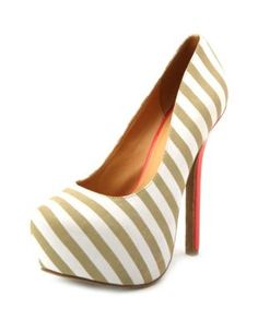 neon pop color striped pump. where have you been all my life?