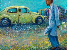 iris scott finger painting | Artist Creates Beautiful Oil Paintings With Her Fingers