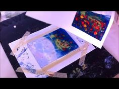 Simple Landscape with Gel Press by Bixxy Nash - YouTube