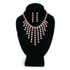 ON SALE! - Necklace & Earring Set - 13 Point Light Pink - $6.25 - The Beadcage - Jewelry & Gift