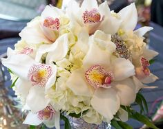 White and Pink Orchid Bouquet
