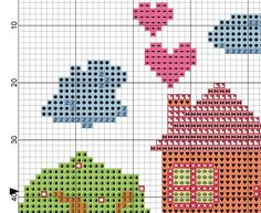 Home Sweet Home Cross Stitch Pattern | Quotidiano Cross Stitch