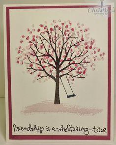 Christine's Stamping Spot; stampin' up!; stampin' up; stampin up; su; stampin up only; sheltering tree; card