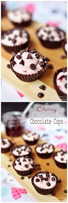 Cherry Cheesecake Chocolate Cups