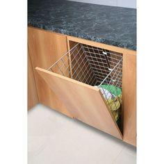 Las tolvas para ropa son útiles y funcionales en la cocina
