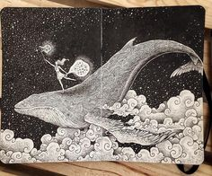 """nathanryanproctor: """"Look up at the stars and not down at your feet. Try to make sense of what you see, and wonder about what makes the universe exist. Be curious. —Stephen Hawking #touched ••• artwork by @kerbyrosanes ••• Tune in to my Instagram..."""