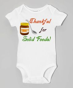 THANKFUL for SOLID FOODS Baby Bodysuits, Tees, Thanksgiving, Holidays,Turkey, Stuffing, Black Friday, Family, Infant, Children, Newborn by EmbryLu on Etsy