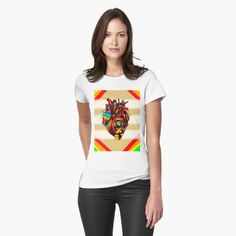 Pride Awareness Heart by kenallouis | LGBTQ Pride T-Shirts | The following is a collection of creative LGBTG Gay Pride shirts and pride tank tops you'll love. Show your pride with our these beautiful pride heart clothing! Rock a Love Wins or a Love is Love shirt. The coolest gay pride shirt for a pride parade or just for hanging with friends. The best quality LGBT inspired tank tops and LGBT T-shirts.  #pride #LGBTpride #LGBTQ #gaypride #pridetshirts #pridemonth Creative Shirts, Cool T Shirts, Tank Top Shirt, Tank Tops, Gay Pride Shirts, Cool Graphic Tees, Pride Parade, Love Shirt, Dress For Success