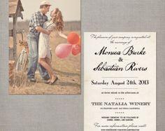 Rsvp postcard / Rsvp postcards / Rustic by NostalgicImprints