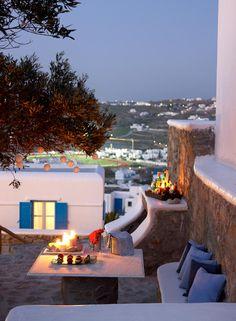 Leonis Summer Houses, Mykonos private veranda www.leonis.gr.                            (KO) Mykonos, Greece.