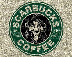 Scar Scarbucks Lion King Starbucks Coffee Logo by SVGFileDesigns Disney Starbucks, Starbucks Logo, Starbucks Coffee, Custom Starbucks Cup, Coffee Logo, Coffee Addiction, Vinyl Shirts, Disney Christmas, Doll Patterns