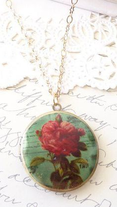 Rose Photo Locket