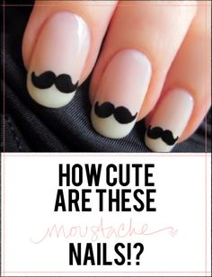 Hercule Poirot Mustache nails! It looks like a french manicure and you might be able to use a black  Sally Hansen Nail Art pens and free hand draw the mustaches!