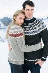 GJESTAL 235-3 www.gjestal.no Knitting Patterns, Crochet Patterns, Icelandic Sweaters, Fair Isle Knitting, Knit Fashion, Color Combos, Color Patterns, Knit Crochet, Men Sweater