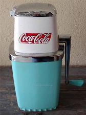 Collectible Turquoise  Vintage Coca Cola ICE CRUSHER with Ice Bucket