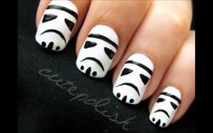 stormtrooper nails....must do for FanExpo!