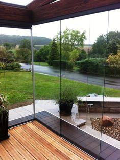 Schiebetüren für Wintergarten von Sunflex Garden Design, House Design, To Go, Deck, Backyard, Outdoor Decor, Wall, Home Decor, Shop Ideas