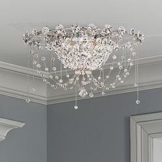 Add this wonderful Heritage beaded crystal ceiling light to your decor and immerse your space in shimmering elegance. Style # at Lamps Plus. Crystal Ceiling Light, Crystal Chandelier Lighting, Ceiling Light Fixtures, Lamp Light, Ceiling Lights, Chandeliers, Country Chandelier, Cheap Chandelier, Foyer Chandelier