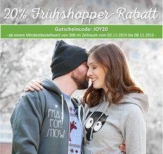 Vorweihnachtliche 20% auf alles ab einem Mindestbestellwert von 30€. Jetzt gestalten auf www.t-shirt-mit-druck.de