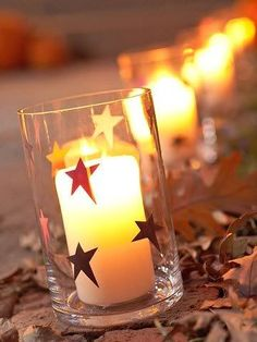 Christmas Candles- stickers on your reception votives