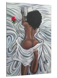 Sexy Black Art, Black Girl Art, Black Women Art, Art Girl, Black Lady, Black Art Painting, Black Artwork, Strong Black Man, African Artwork