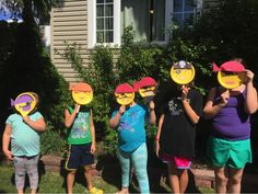 My kids and some of their friends made some Emoji Pirates to help celebrate the day! The best part is that these were easily made with a few supplies I had around the house!