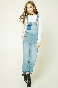 Colorblock Denim Dungaree