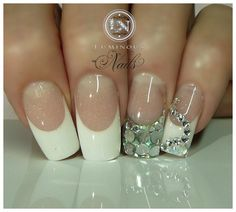 French with Bling! - Nail Art Gallery by NAILS Magazine