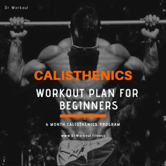 Challenge Yourself with This Calisthenics Beginner Workout Plan So, y. - Challenge Yourself with This Calisthenics Beginner Workout Plan So, you've heard that - Calisthenics Workout Program, Calisthenics Workout For Beginners, Calisthenics Workout Routine, Calisthenics Body, Workout Routines For Beginners, Aerobics Workout, Workout Programs, Workout Regimen, Fitness Workouts