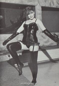 Atomage Pictures A5 Edition 32 Punk Rock Girls, Celebrity Boots, Vintage Boots, Vintage Leather, Black Leather Gloves, Sexy Older Women, Vintage Lingerie, Models, Rubber Catsuit