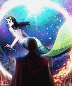 Thorki Mermaid AU by engawa