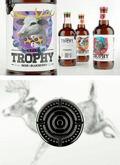Trophy Beer by Galya Akhmetzyanova & Pavla Chuykina   Inspiration Grid   Design Inspiration