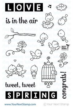 Word Critters Collection - Spring Birds