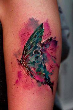 Tatuagem de borboleta by Pavel Krim