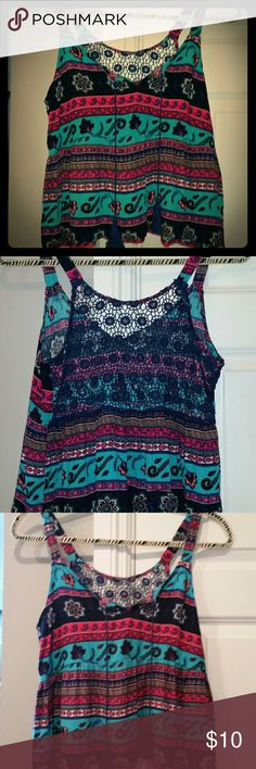 A Reposh.Brand new Blue tassel crochet back crop NEVER WORN L Blue tassel crochet back crop top. Amazing Colorful Patterned top!  Stunningly Beautiful! ??  #greatdeal #hotlook #UwilllookMarv #sweetnsexy #Classylook #Sassy Heart V Hips Tops Crop Tops
