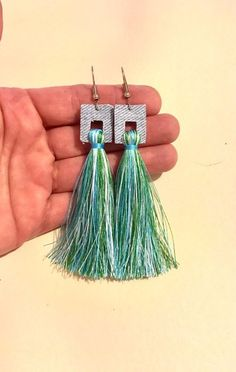 Excited to share this item from my shop: Long denim tassel earrings fabric square geometric boho bohemian hippie statement womens jewelry casual lightweight blue unique handmade Denim Earrings, Gold Bar Earrings, Moon Earrings, Sapphire Earrings, Tassel Earrings, Crystal Earrings, Fabric Earrings, Heart Shaped Diamond, Stainless Steel Earrings