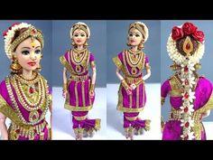 Barbie And Ken, Barbie Dolls, Madisar Saree, Half Saree Function, Indian Wedding Favors, Indian Dolls, Fairy Furniture, Dolls For Sale, India Fashion