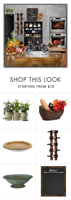 """Thanksgiving  Fall Feast...In the Kitchen!"" by suelb ❤ liked on Polyvore featuring interior, interiors, interior design, home, home decor, interior decorating, Universal Lighting and Decor, Cypress Home and kitchen"