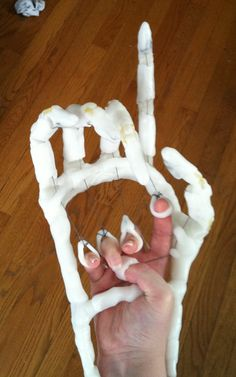 Made a prosthetic hand for your costume great for cons or Halloween.