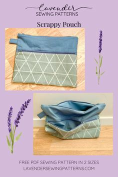 Sewing Patterns Free, Free Pattern, Print Patterns, Love Sewing, Gym Bag, Lavender, Pouch, Bags, Handbags