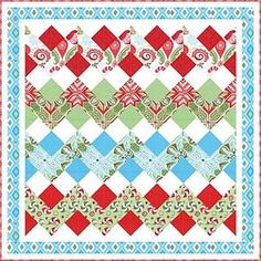 rick rack quilt - block is easy