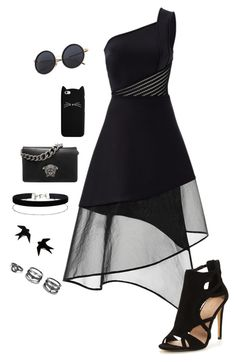 Untitled #486 by sunnywinterday on Polyvore featuring polyvore, fashion, style, David Koma, Versace, Miss Selfridge, LULUS and clothing