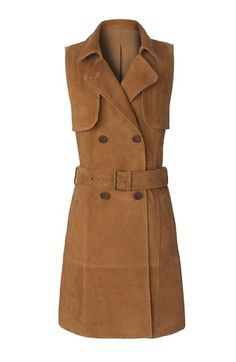 Olivia Palermo Suede Trench Dress