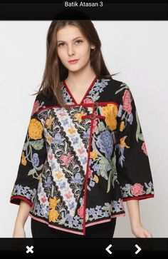 Blouse Batik Modern, Dress Batik Kombinasi, Batik Solo, Batik Fashion, Blouse Models, Batik Dress, African Fashion, Blouses For Women, Womens Fashion