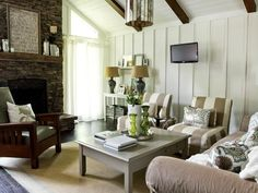 Rustic Cottage Living Room | HGTVRemodels.com