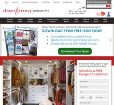 We've teamed up with Closet Factory to offer a free digital issue of the magazine- www.closetfactory.com