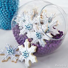 Let it snow! Follow our step-by-step instructions to bake & ice these Snowflake Cookies!