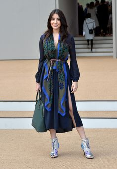 Anushka Sharma Arrivals at Burberry Prorsum Spring 2015 show LFW