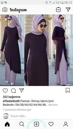 Kıyafete - Another! Hijab Style Dress, Hijab Chic, Muslim Women Fashion, Islamic Fashion, Abaya Fashion, Fashion Dresses, Moslem Fashion, Mode Abaya, Hijab Fashionista