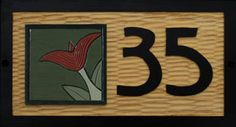 Arts and Crafts House Boards- hand carved and painted home number boards